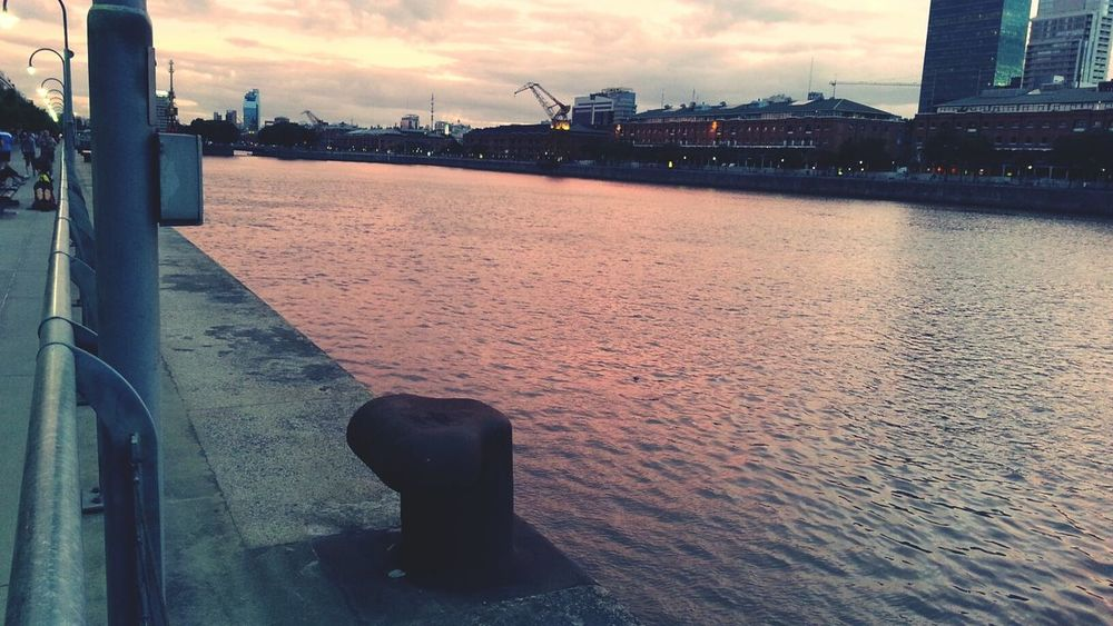 Red River Dock Of The Bay Evening Light River Plate