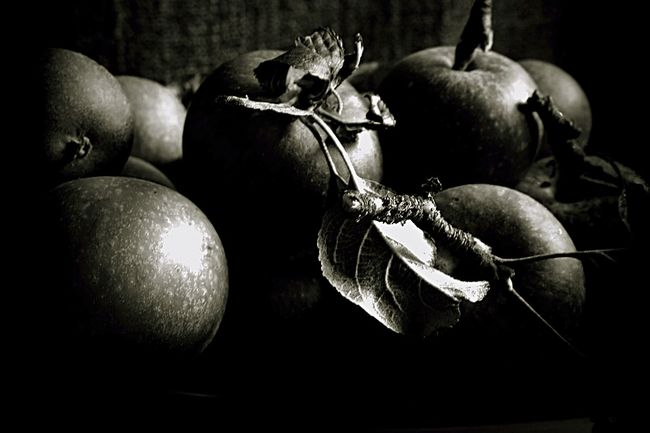 Apples Balck&White Black Background Bunch Food Food And Drink Freshness Friuts Fruit Macro Medium Group Of Objects Nature Static Studio Shot