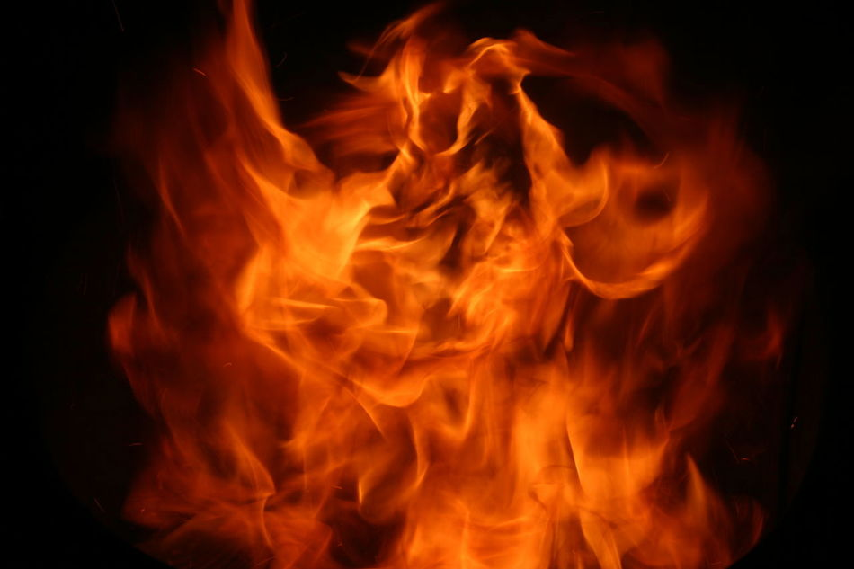 Black Background Burning Close-up Fire Flame Heat - Temperature Inferno Nature No People Red Sparks Sparks Fly Sparks Flying