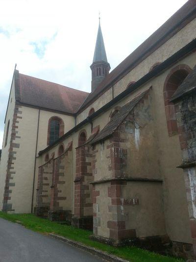 """Cistercian Abbey """" Kloster Bronnbach"""", Germany, built 1222 A.D. Abbey Church Cloister"""