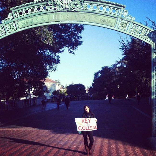 TBT  I stole an Asian kids sign! Nbd HeWasCool KeyToCollege UCBerkeley Berkeley College SanFranTrip ??