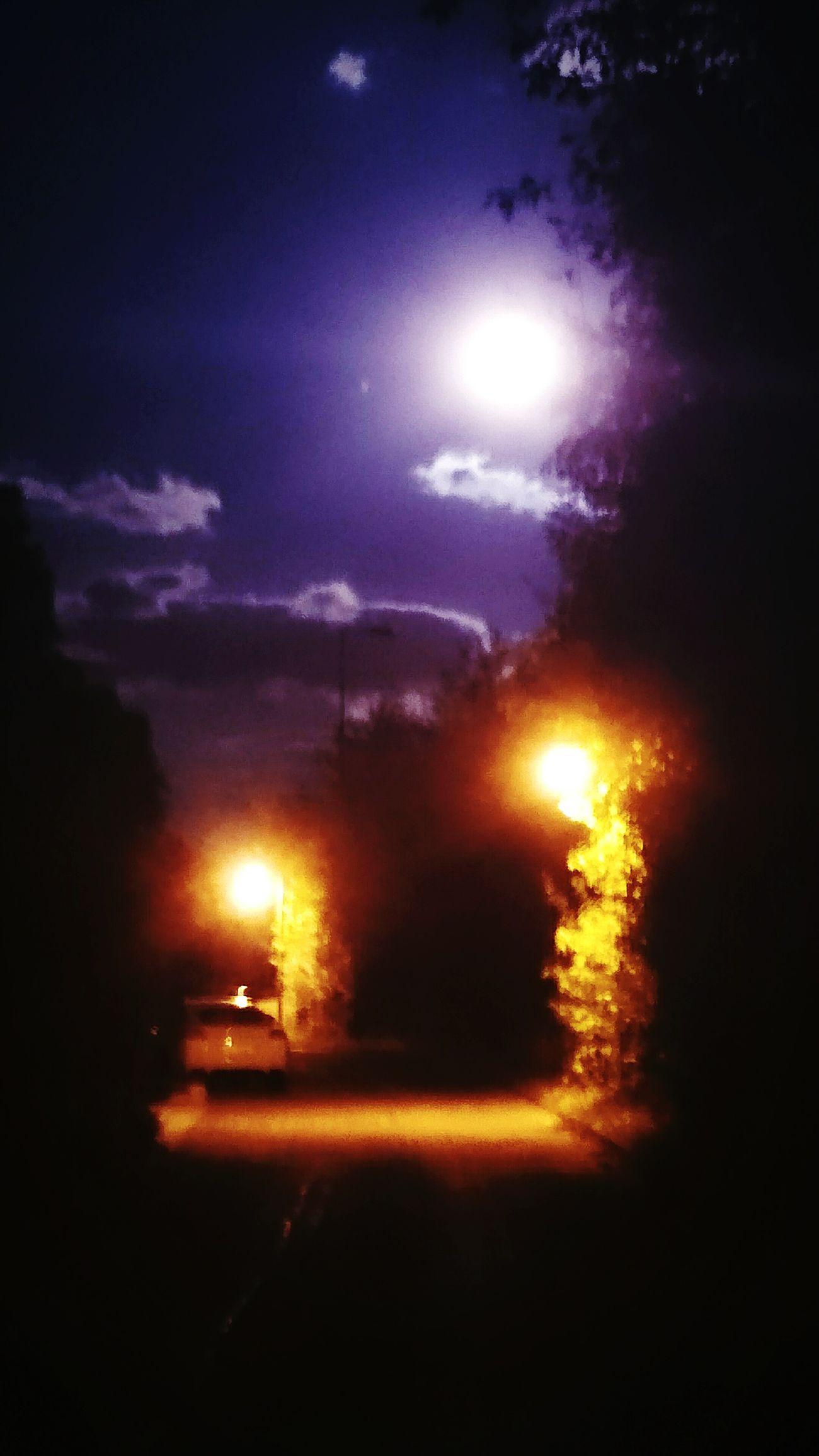 Vollmond Nacht Abendspaziergang