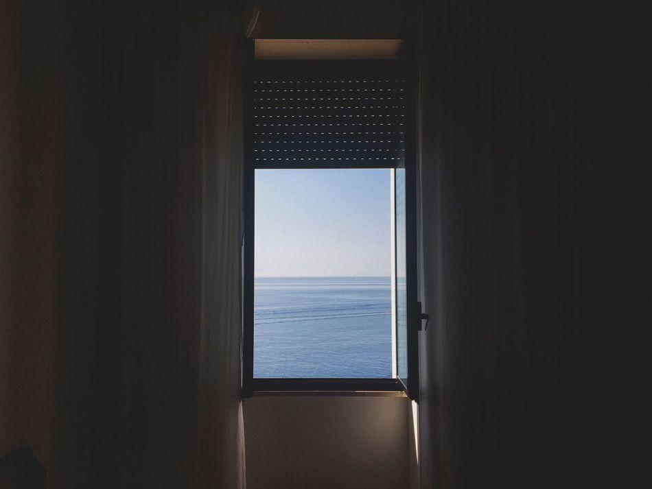 Dream Window Sea Sea And Sky High Contrast +5 Turnbacktime Summer Winter Light Shadow Room Goodvibes Santa Cesarea Terme Day Italy Italia David De La Cruz Delacruzfotografia Colors No People