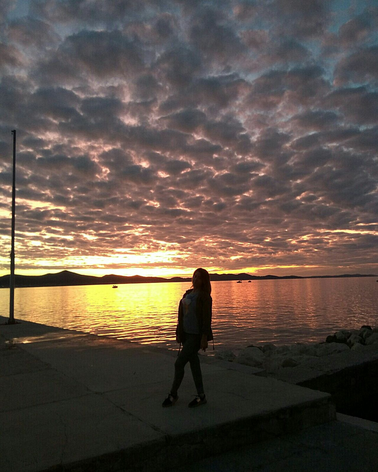 One Person Sunset Full Length One Woman Only Sky Cloud - Sky Rear View Beach Nature Beauty In Nature Travel Destinations Sunset Silhouettes Beautiful Nature