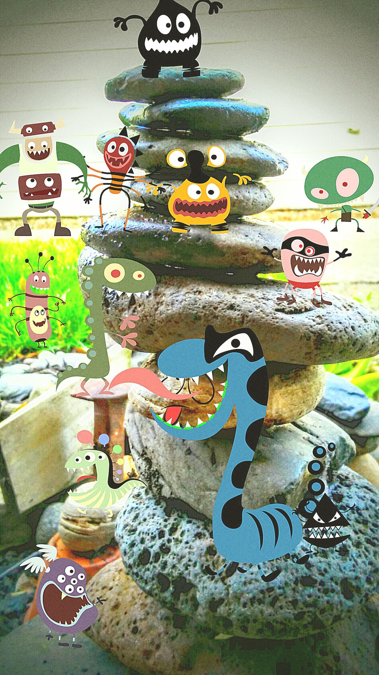Monsters Rocks Rockstars Going To Get You Art My Pictures Tell Storys My Picture My Edit Funny Faces I Made This! Name Us Little Monsters Having Fun With Photography This Is Fun Creativity Creative Photography Monster Inc. EyeEm EyeEm Best Shots EyeEm Gallery Eyencreative EyeEm Best Edits Creatures Rock Monsters Yikes! Rawr! Like This Or My Monsters Will Get You!