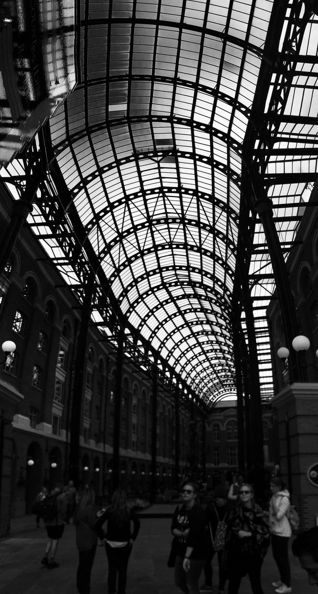 The Queen's Walk TheQueensWalk IPhoneography ShotOniPhone6 Blackandwhite Architecture Glass Roof London United Kingdom