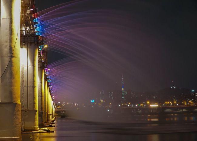 Banpo Bridge Night Water Bridge South Korea EyeEm Best Shots
