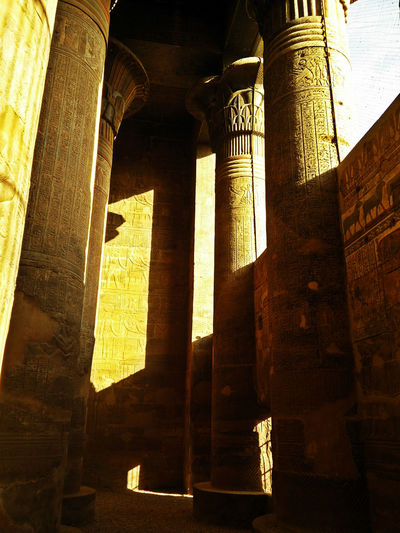 Inside Luxor Old Temple Shadows & Lights Sightseeing Temple Tourism Wall Sculpture