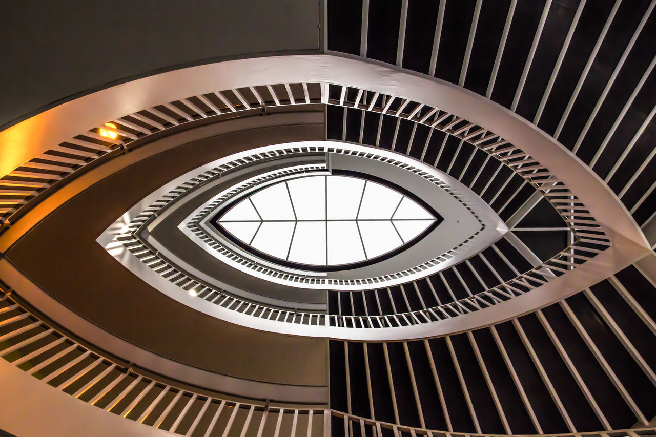 Architecture Built Structure Concentric Day Indoors  No People Pattern Railing Spiral Spiral Staircase Staircase Steps Steps And Staircases