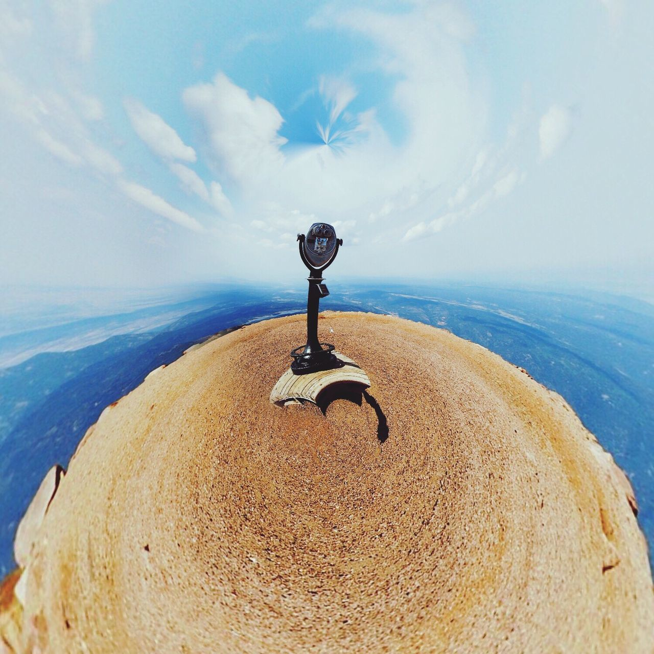 Tinyplanetfx Tinyplanet Sky Clouds Check This Out Binoculars View Planet Creativity Abstract Taking Photos Hello World