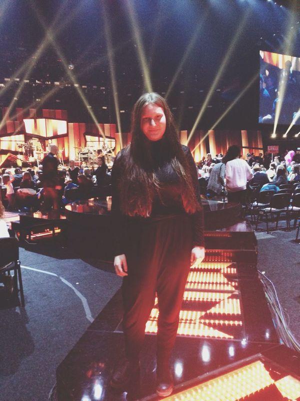 Standing on the catwalk Melodifestivalen Music Catwalk Beauty