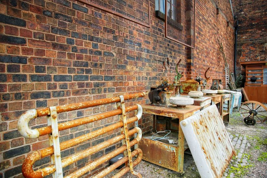 Middleport Pottery Architecture Brick Wall Day Indoors  Metal Industry Middleport Pottery No People