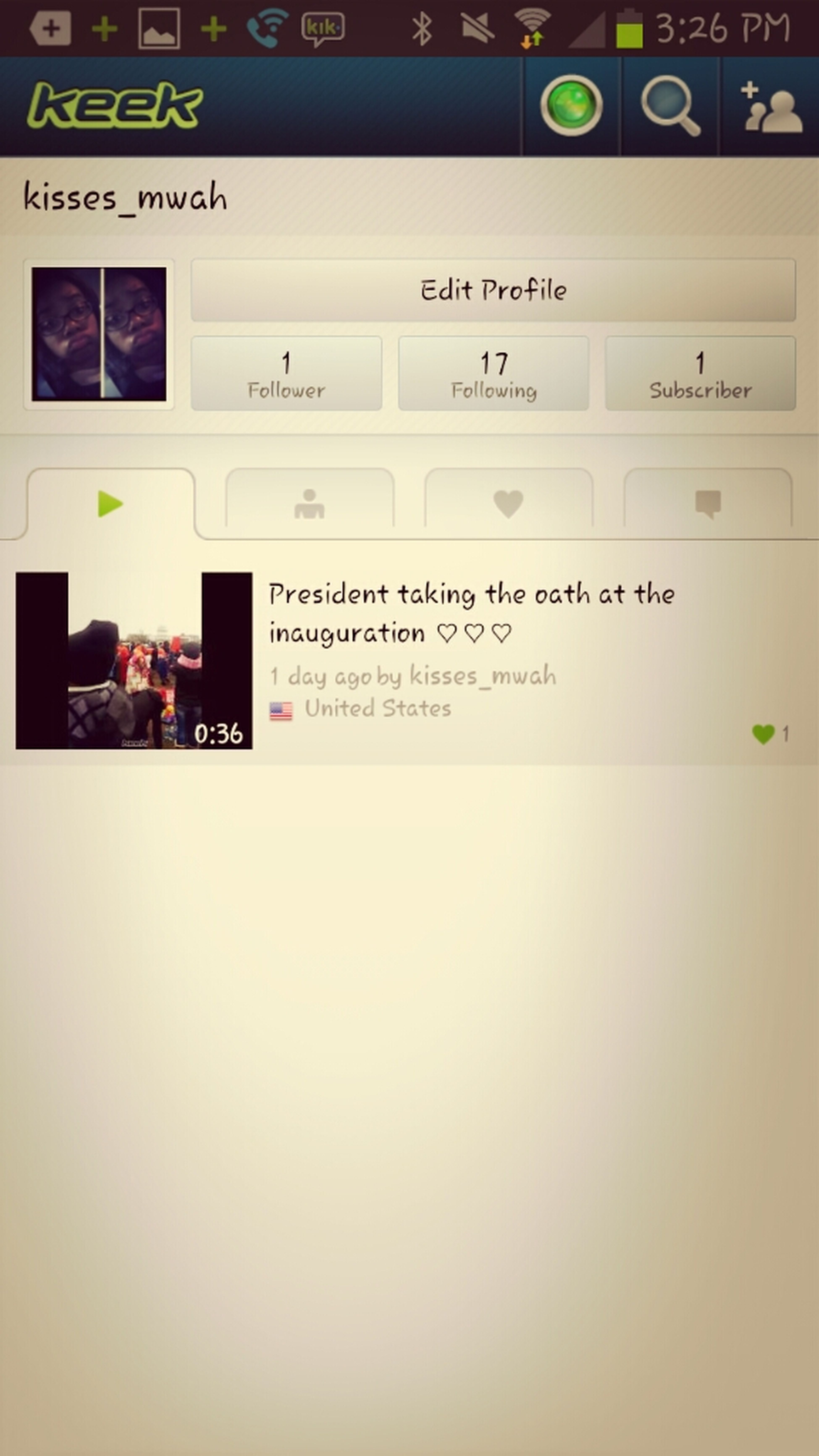 Follow Me On Keek @ Kisses_mwah