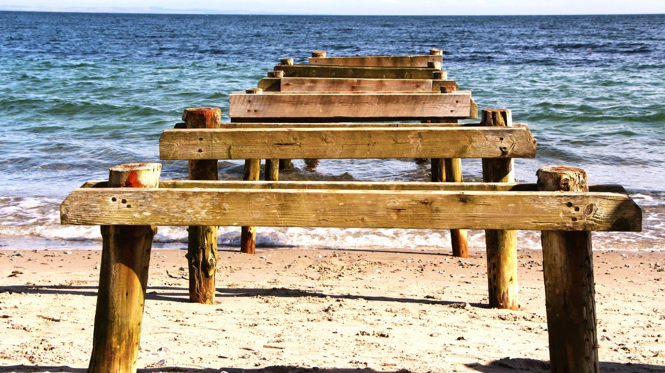 Lookingforward Remains Of Boardwalk Boardwalk Sea View Seaside Sea_collection Taking Photos Relaxing Dayatthebeach Followme