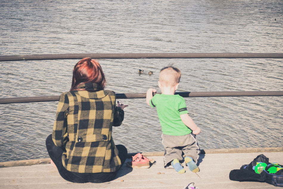 Beautiful stock photos of enten, Boys, Childhood, Day, Family With One Child