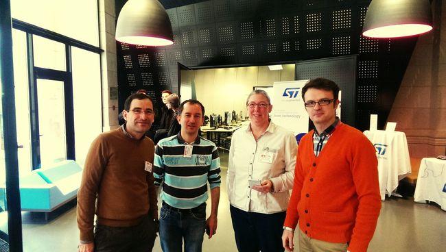 Avec la RucheNumerique et l' Ensim, hall de la CCI. 24hCode Concours Coding