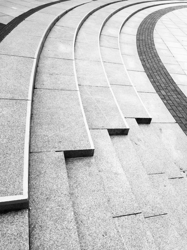 Blackandwhite Black And White Black & White Monochrome Abstract Streetphotography Leading Lines Lines Steps Curves Urban Geometry Fine Art Photography