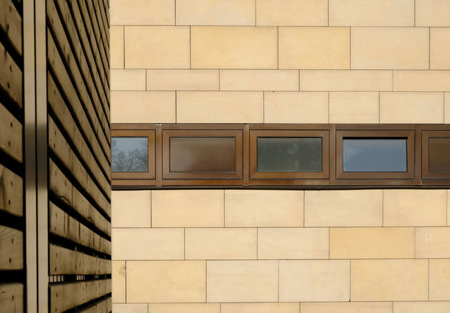 Architecture Beige Tones Building Exterior Built Structure Copy Space Day Full Frame Horizontal Symmetry No People Stadthagen Tile Vertical Symmetry Window Wood Paneling The Architect - 2017 EyeEm Awards