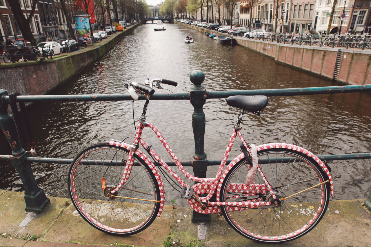 2016 April Canal City City Life Day Engineering Focus On Foreground Mode Of Transport No People Outdoors Parked Parking Rippled River Spring Stationary Travel Destinations Water Your Amsterdam EyeEm X Google - Your Amsterdam