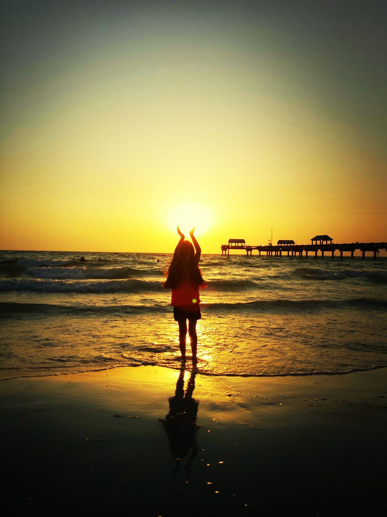 Sunset Pure Energy Enjoy The Outdoors Golden Power