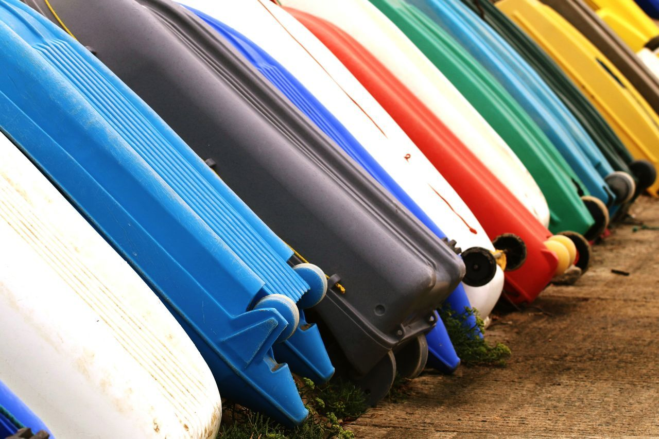 Multi Colored Industry No People Factory Manufacturing Equipment Day Boats Dinghy Harbor Quiberon