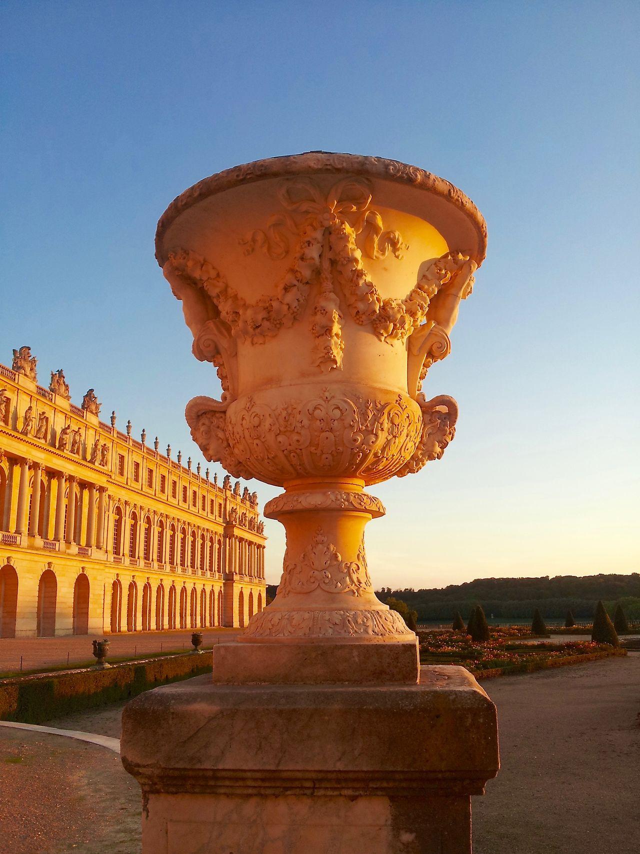 Antique Stone Vase Architecture Close-up Gardens Of Versailles History Palace Of Versailles Parc Du Château De Versailles, France Perspective Scupture Sunset_collection Vase Medicis