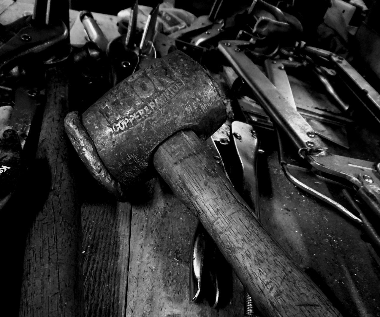 Abundance Choice Close-up Copper  Equipment Full Frame Group Of Objects Hammer Large Group Of Objects Machine Part Machinery Mallet Molegrips Part Of Rawhide Retail  Still Life Thor  Thors Hammer Tools Variation Wood - Material Work Tool Workshop Workshop