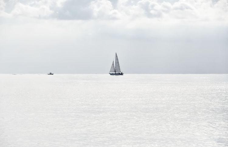 Boats on the horizon line - high key - Ligurian sea Chiavari Beauty In Nature Boat Cloud - Sky Day Fog Horizon Over Water Liguria Mast Nature Nautical Vessel No People Outdoors Sailboat Sailing Sailing Ship Scenics Sea Seascape Sky Tranquil Scene Tranquility Transportation Water Waterfront