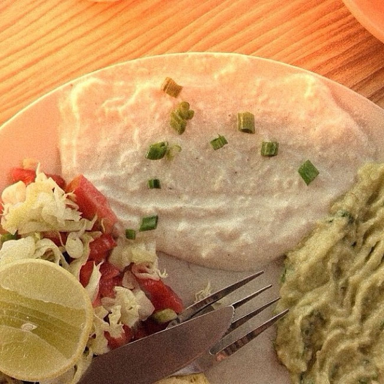 Springonion Creamcheese Salad Avacardo yum israelibreakfast