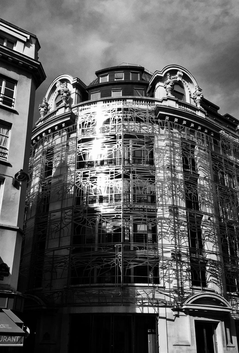 Paris Black & White IPhoneography Architectural Detail