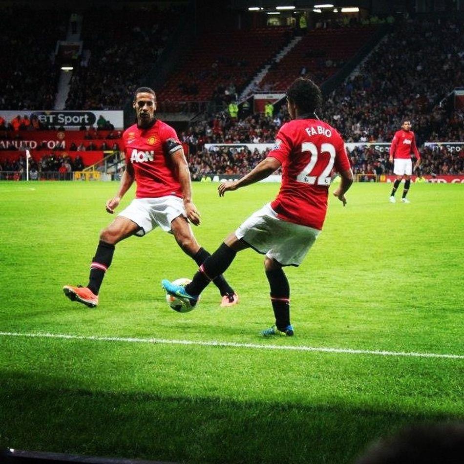 @manutdunseen thought you'd like this one I got from Rios testimonial. Rioferdinaned Football Manchesterunited United fabio desilva theatreofdreams stickbyyourmanager moyes siralexferguson