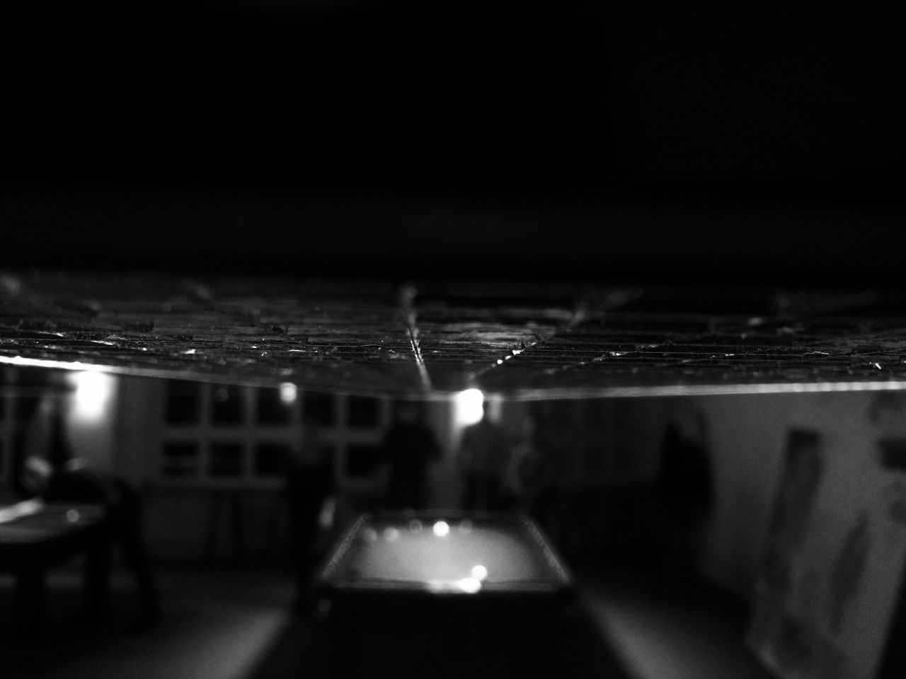 Blurred People Playing Snooker