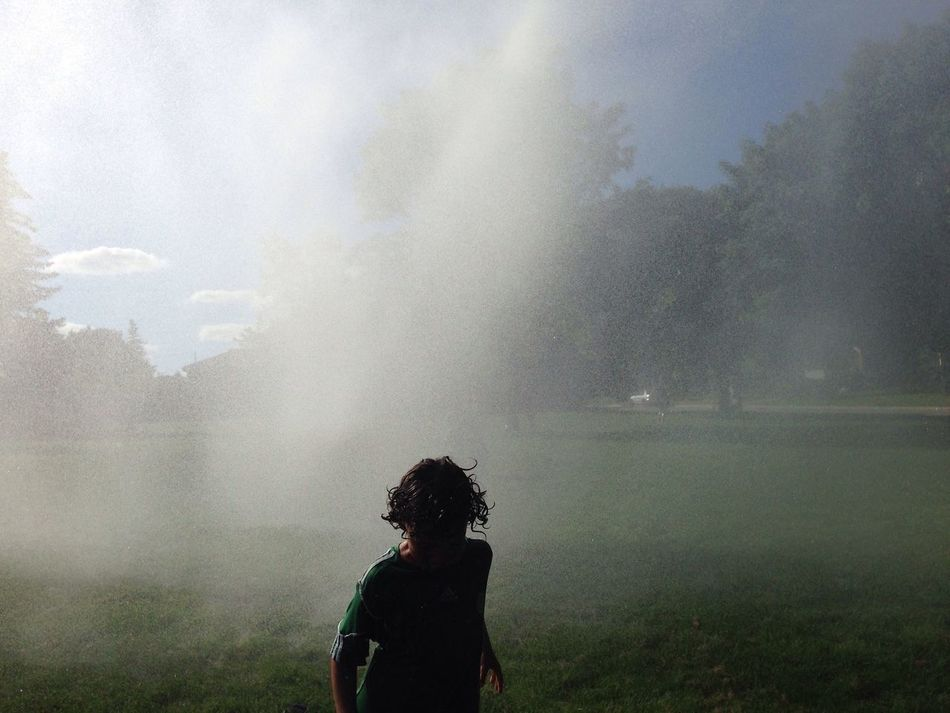Getting Splashed Water Summer Silhouette Child