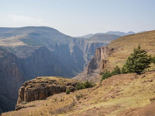 Maletsunyane Canyon Gorge Lesotho Africa Mountain Mountain Range
