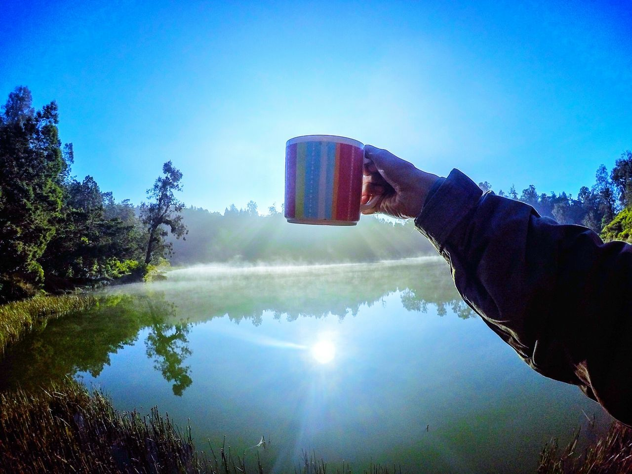 Coffe time Relaxing Coffe Nature Lake Folk Chill