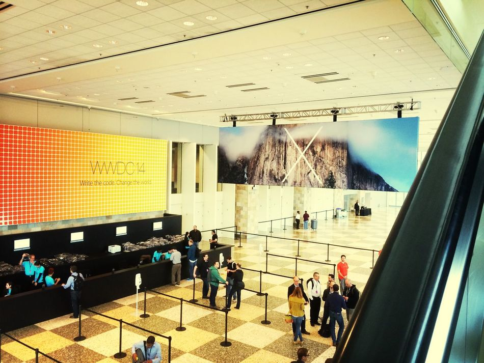 So, the week can start. Excited! WWDC San Francisco Apple