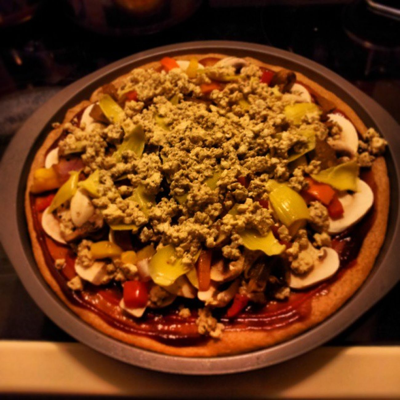 Delicious homemade Vegan pizza