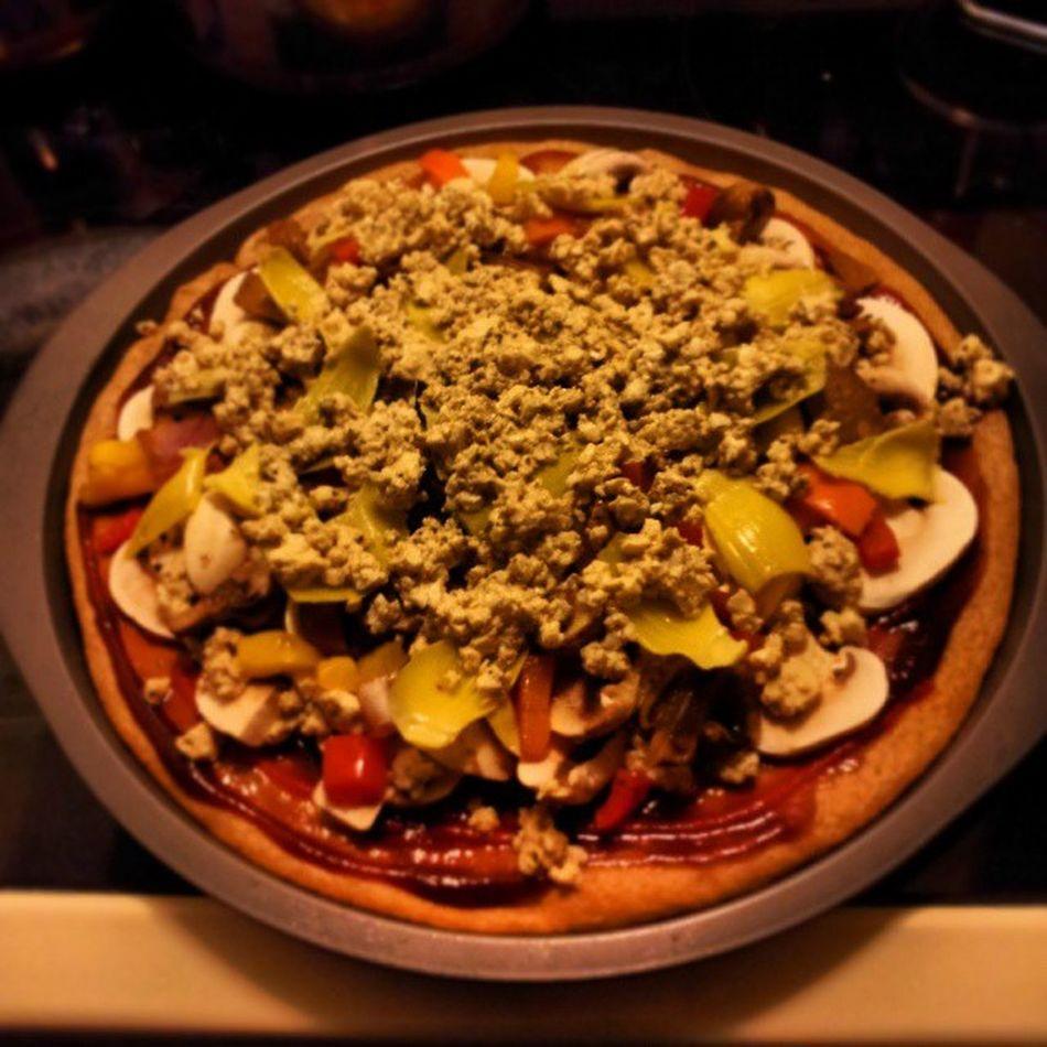 Delicious homemade Vegan pizza