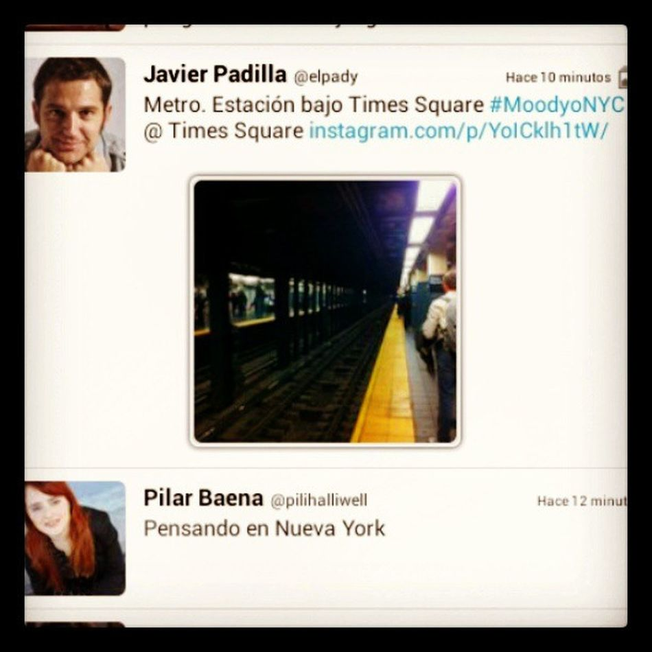 Por tonterías así me encanta Twitter MoodyoNYC @elpady @pilihalliwell NYC Newyork