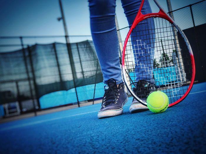 Meeting the tennis court - Tenniscourt Tennis 🎾 Tennis Ball Slazenger