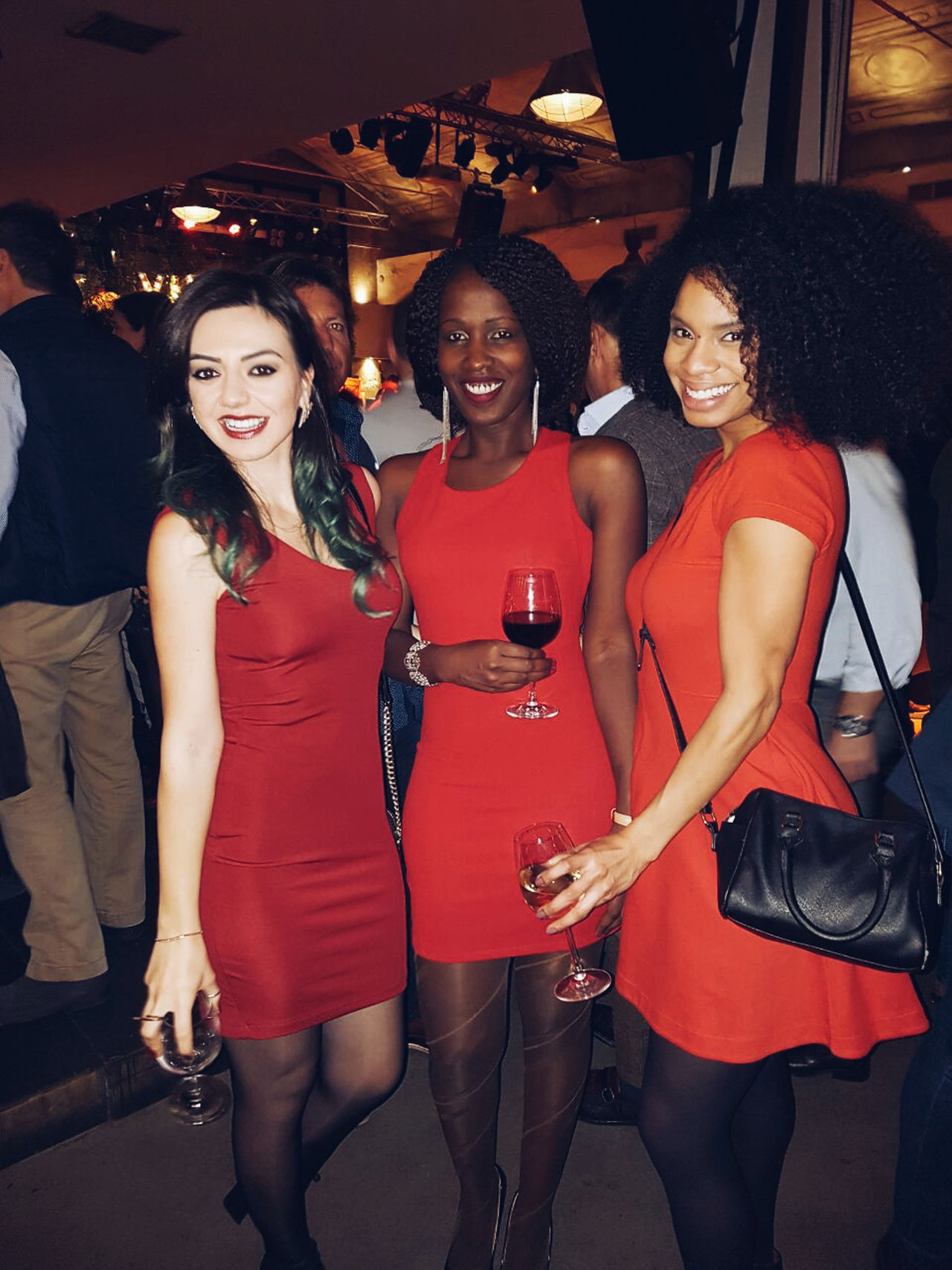 My Year My View Nightlife Night Young Adult Red Party - Social Event Nightclub Friendship Fashion Fun Adults Only Happiness Lifestyles Smiling People Young Women Multi Colored Beautiful People Cheerful Having Fun With Friends Friends Togetherness Real People Urban Red Dress