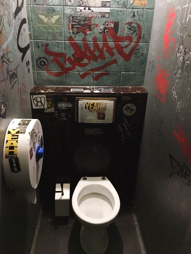 Transportation Mode Of Transport Travel Land Vehicle Vehicle Interior Journey No People Man Made Object Graffiti Tags Toilet Toilette Art Toilette