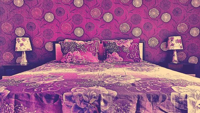 Bad Colrful Design Minimal Purple Home Night Interior Room Style Stylish Grace Lines And Shapes Shape Pillow Surealism Architectural Detail MOVIE Hotel Hotel Room Hostel Mention Bulgaria Dulovo