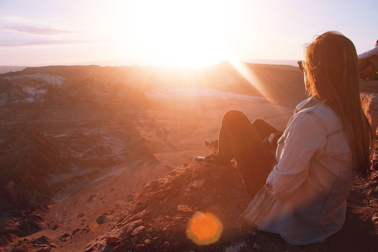 Beautiful stock photos of sunset, 20-24 Years, Adventure, Beauty In Nature, Brightly Lit