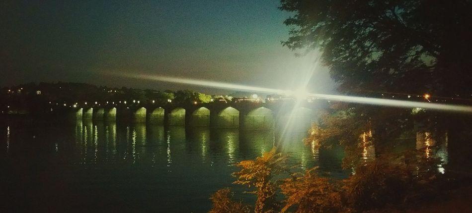 Marketstbridge in Harrisburg, Pa over the Susquehannariver, with light from City IslandMy City Is Beautiful My City Harrisburg ILoveMyCity Eye4photography  Bridges