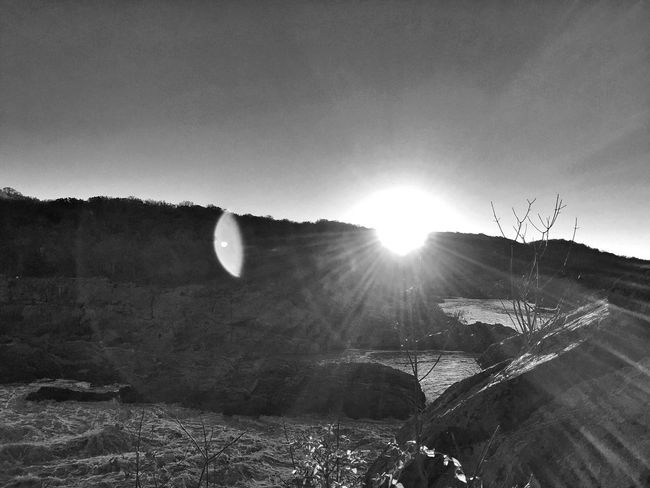 Black And White IPhoneography Autumn Sunrise River Water