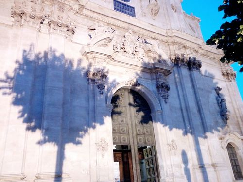 Architecture Built Structure Religion Building Exterior Place Of Worship Outdoors No People Ombre Shadow Scicli