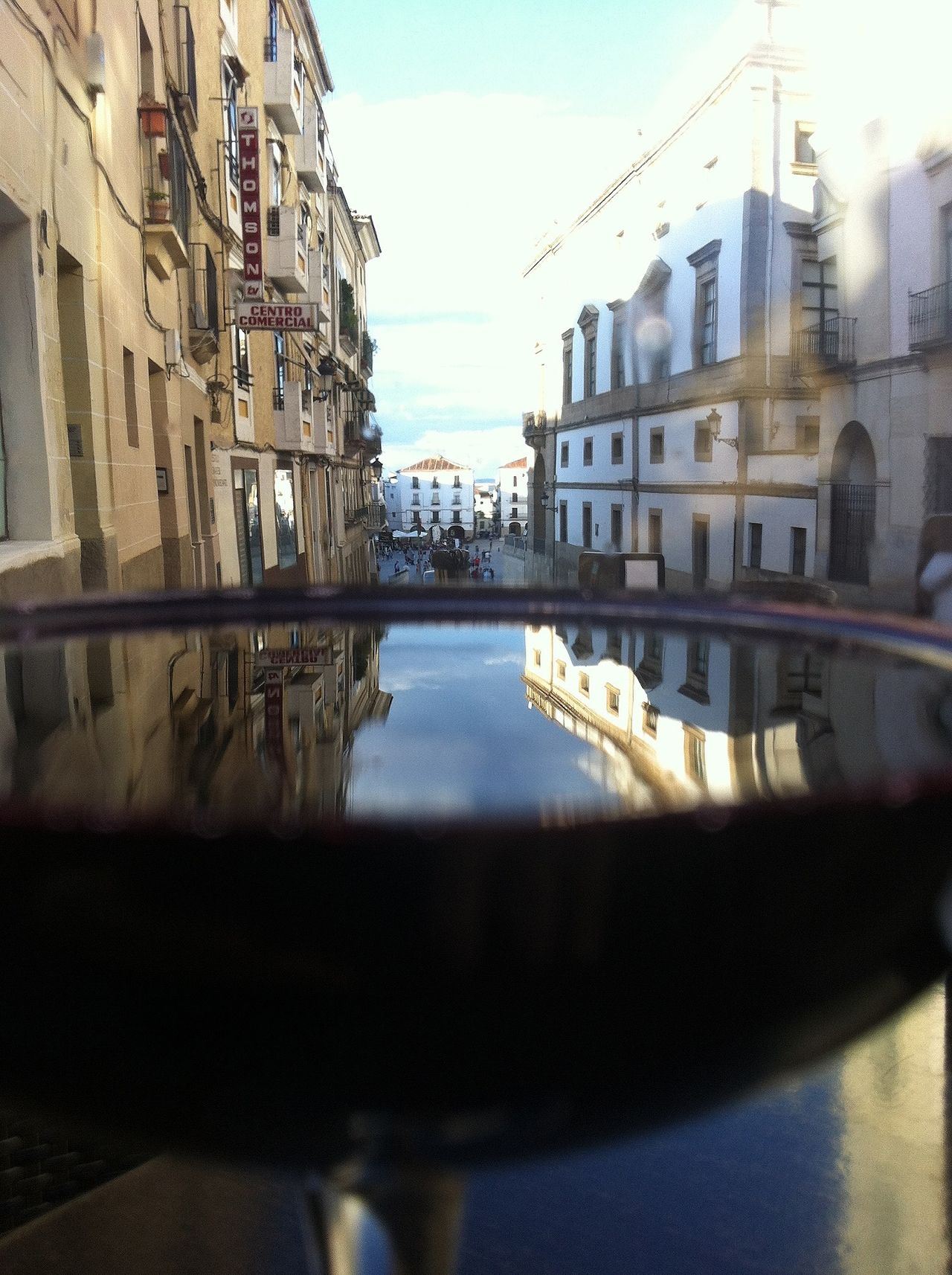 Blue Sky through my Glass Of Wine