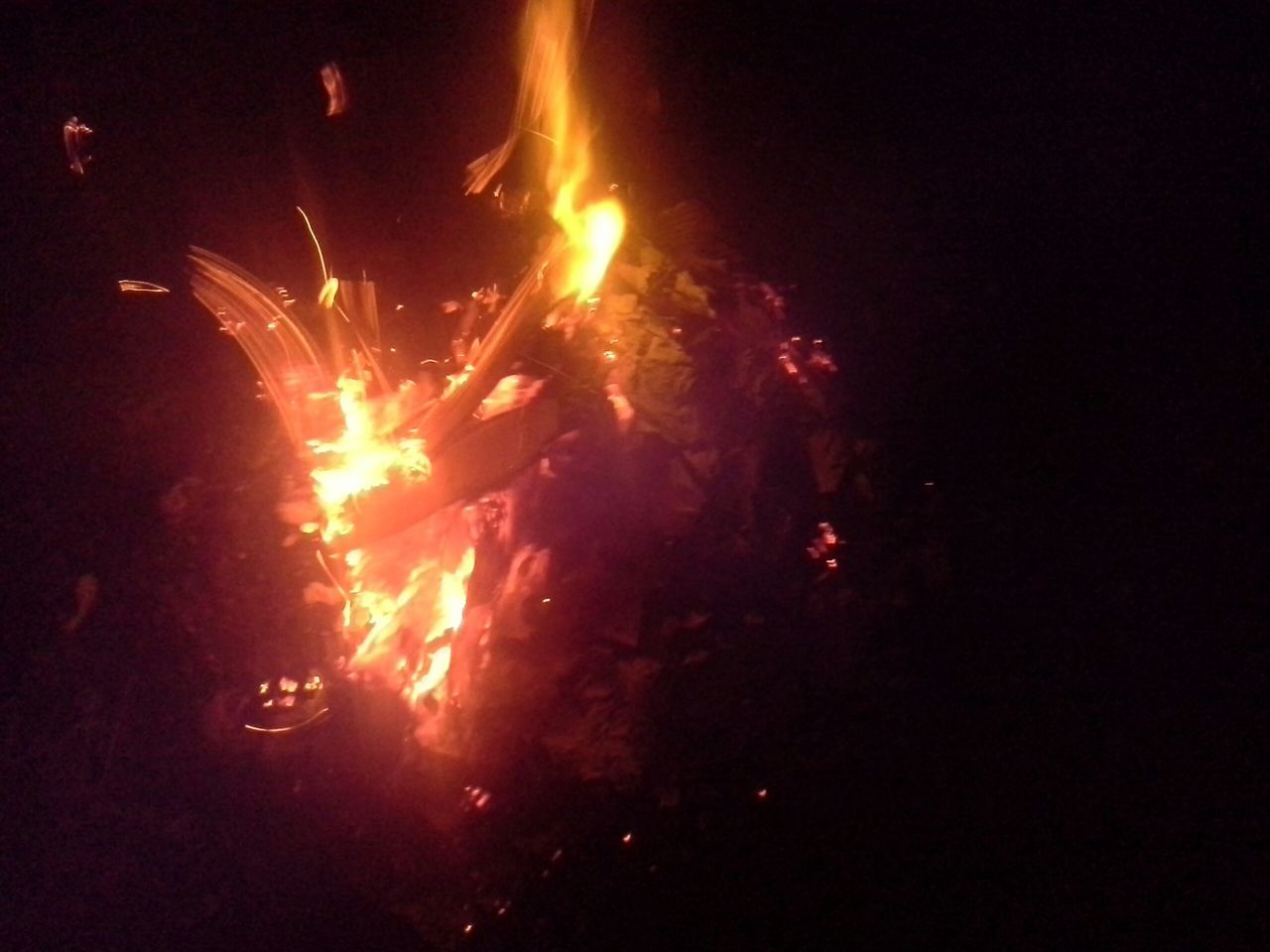 night, burning, heat - temperature, flame, glowing, outdoors, bonfire, no people, close-up