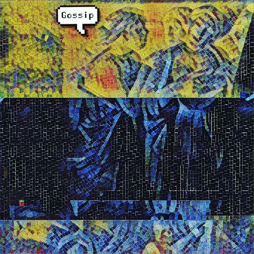 Art with modern twist. Internet Addiction Multi Colored Communication Creativity Art Details ArtWork Digitalart  Getting Creative Getting Inspired Artporn Colorful Visionary Art The Human Condition Gossip Yellow Blue Women Art, Drawing, Creativity Art And Craft Myeditmyphoto Artislife Fine Art